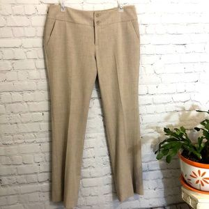 MOSSIMO STRETCH DRESS PANTS LGT TAN 2% SPANDEX SZ6